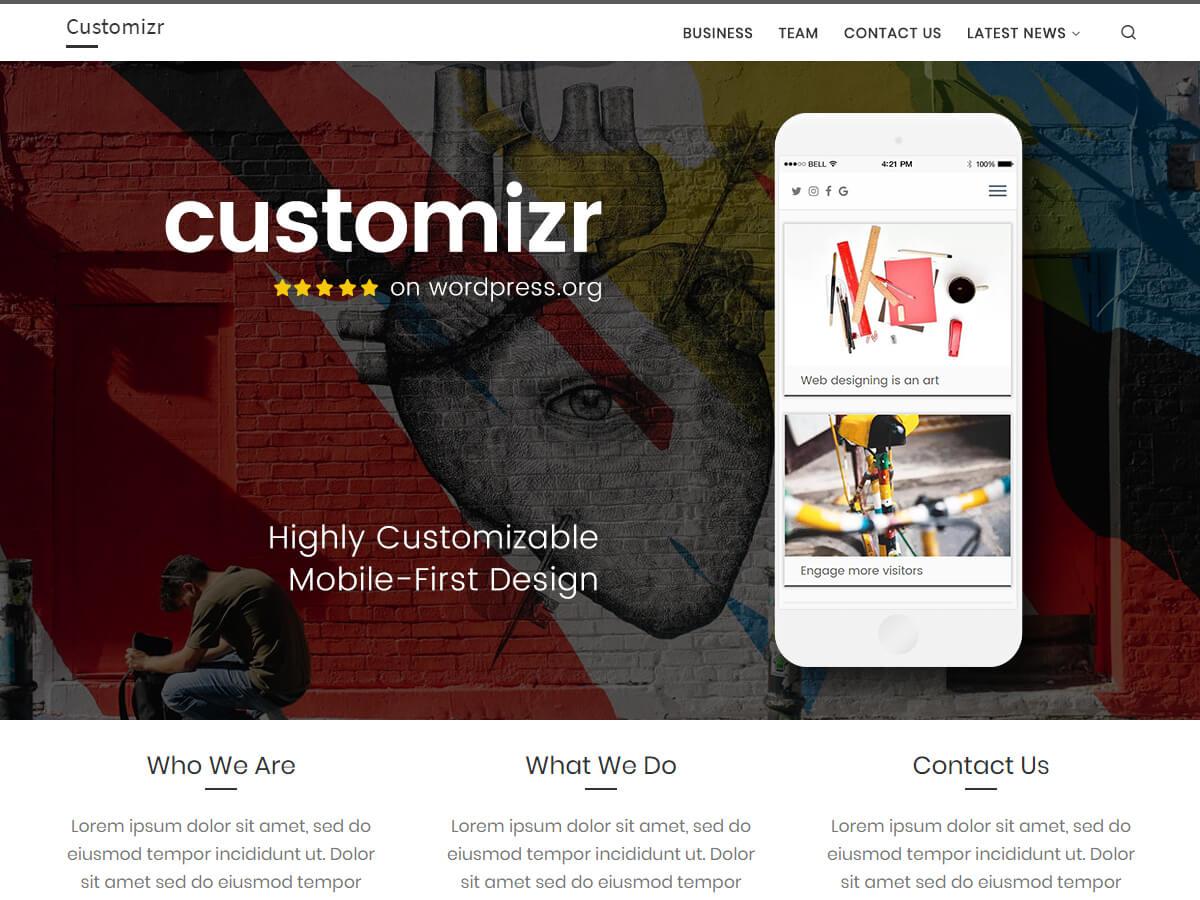 Customizr est un thème élégant et simple